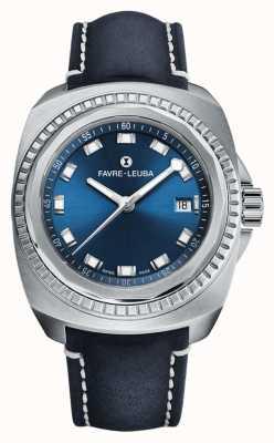 Favre Leuba 海王攻略蓝色表盘|蓝色羚羊皮 00.10107.08.51.46