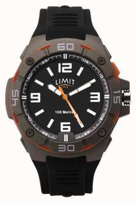 Limit 男士黑色橡胶表带|黑色表盘 5788.65