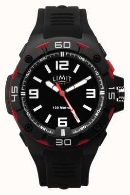 Limit |男士黑色橡胶表带|黑色表盘|红色/黑色边框 5789.65