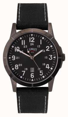 Limit 男士黑色帆布表带|黑色表盘|合金外壳 5791.01