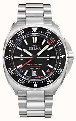 Delma Oceanmaster石英|不锈钢手链|黑色表盘 41701.676.6.038