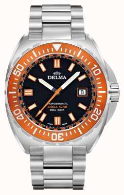 Delma 贝壳星石英|不锈钢手链|橙色边框 41701.676.6.151