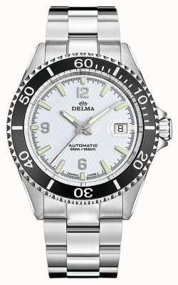 Delma 圣地亚哥自动|不锈钢手链|白色表盘 41701.560.6.014