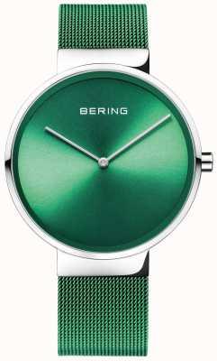 Bering 经典款绿色网眼带|绿色表盘 14539-808