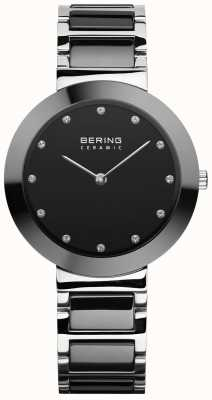 Bering 女士陶瓷|黑色陶瓷手链|黑色表盘 11434-742