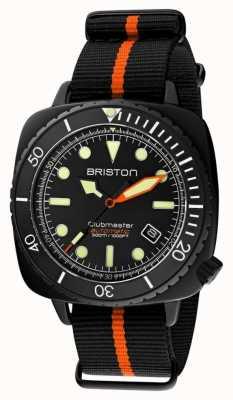 Briston Clubmaster潜水员专业版|黑色/橙色北约表带|黑色表盘 20644.PBAM.B.35.NBO