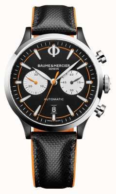Baume & Mercier 开普兰|男士自动|黑色皮革|黑色表盘 M0A10451