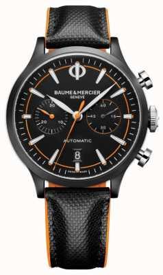 Baume & Mercier 开普兰|男士自动|黑色皮革|黑色表盘 M0A10452