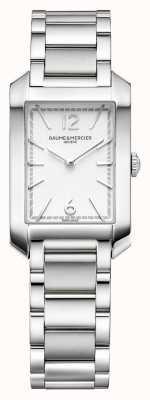 Baume & Mercier 汉普顿矩形|女式|不锈钢|银色表盘 M0A10473