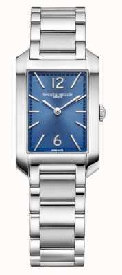 Baume & Mercier 汉普顿矩形|女式|不锈钢|蓝色表盘 M0A10476