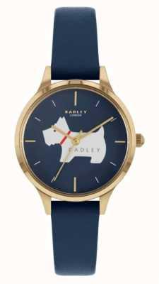 Radley 子午线广场|蓝色皮革表带|狗图案表盘 RY2974