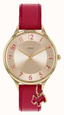 Radley |撒克逊路|红色皮革表带|银表盘| RY2968
