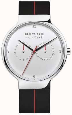Bering Maxrené|黑色橡胶表带|银色表盘 15542-404