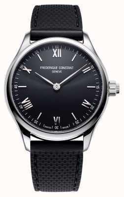 Frederique Constant 男装活力|智能手表|黑色表盘|黑色橡胶 FC-287B5B6