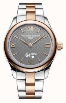 Frederique Constant 女装活力|智能手表|灰色表盘|双色 FC-286BG3B2B