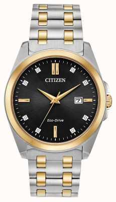 Citizen 男士Corso Diamonds生态驱动两音手表 BM7107-50E
