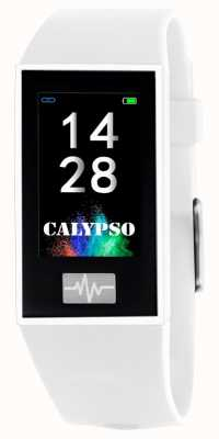 Calypso 男女皆宜| smartime |白色硅胶表带+免费表带 K8500/1