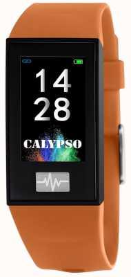 Calypso 男女皆宜| smartime |橙色硅胶表带+免费表带 K8500/3