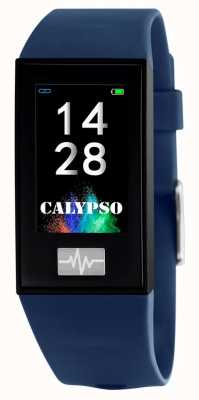 Calypso 男女皆宜| smartime |蓝色硅胶表带+免费表带 K8500/5