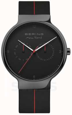 Bering 男士Max Rene |黑色硅胶表带|黑色表盘 15542-423