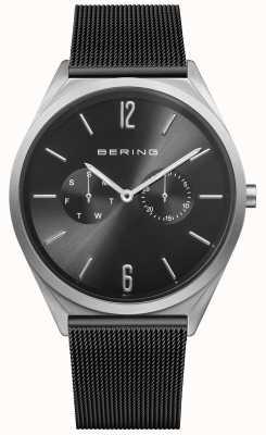 Bering 超薄|黑色钢网带|黑色表盘 17140-102