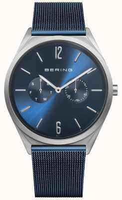 Bering 超薄|蓝色钢网带|蓝色表盘 17140-307