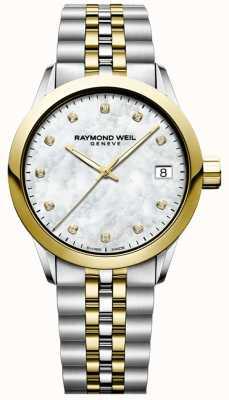 Raymond Weil 女装自由职业者|钻石|珍珠母|双色 5634-STP-97081