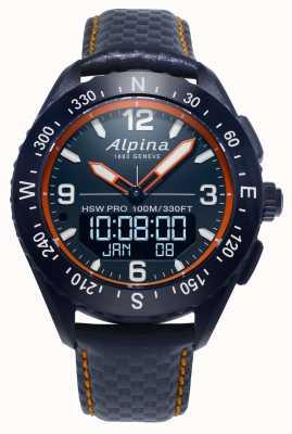 Alpina Alpinerx Smartwatch海军蓝色皮革表带 AL-283LNO5NAQ6L