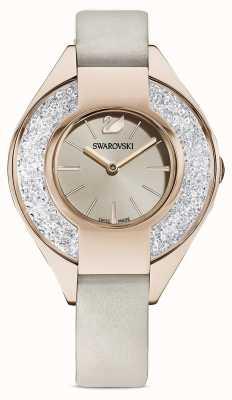 Swarovski 运动水晶|灰色皮革表带|香槟色表盘 5547976