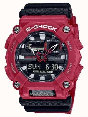 Casio G-shock |重型|世界时间|红色树脂 GA-900-4AER