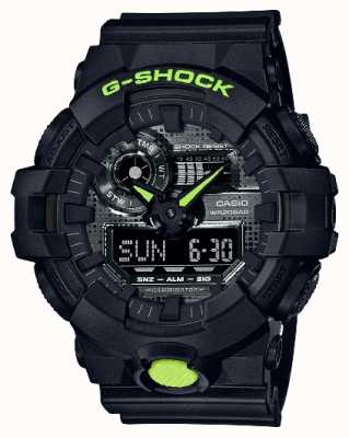 Casio G-shock |数码迷彩|黑色树脂 GA-700DC-1AER