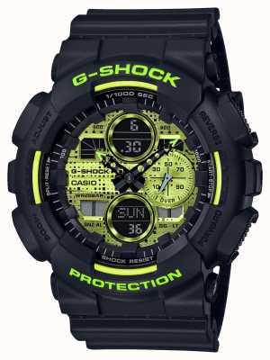 Casio G-shock |数码迷彩|黑色树脂 GA-140DC-1AER