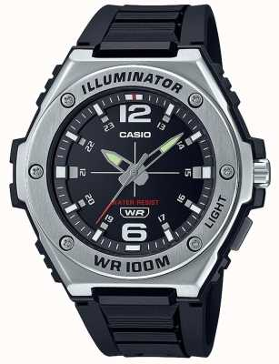 Casio 照明器|黑色表盘|黑色树脂表带 MWA-100H-1AVEF