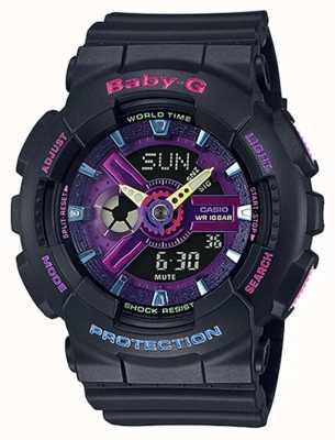 Casio Baby-G Decora紫色细节手表 BA-110TM-1AER