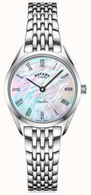 Rotary 超薄女士银手链手表 LB08010/41