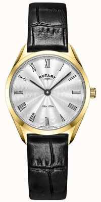 Rotary 超薄女士黄金皮革手表 LS08013/01