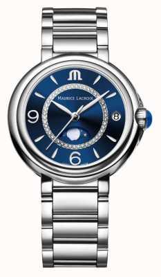 Maurice Lacroix Fiaba月相女士石英钻石不锈钢 FA1084-SS002-420-1