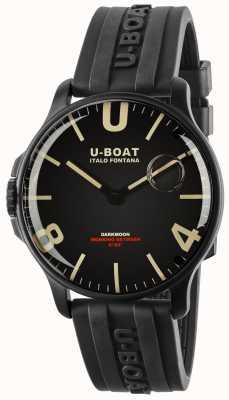 U-Boat Darkmoon 44mm黑色ipb  橡胶表带 8464-BLACK