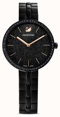 Swarovski 世界性|黑色pvd镀金手链|黑色闪光表盘 5547646