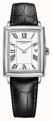 Raymond Weil 女士toccata |黑色皮革表带|白色表盘 5925-STC-00300