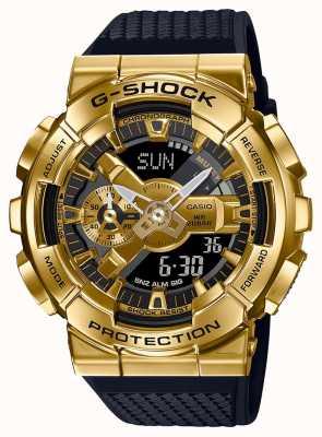 Casio G-shock |树脂质感表带|金金属表壳| GM-110G-1A9ER