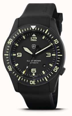 Elliot Brown Holton自动|黑色橡胶表带|黑色表盘| 101-A10-R06