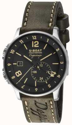 U-Boat 1938 Doppiotempo双重时间黑色表盘 8400/A