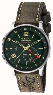 U-Boat 1938 Doppiotempo双重时间绿色表盘 8500
