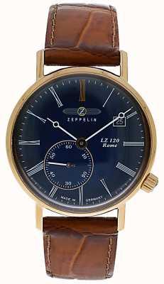 Zeppelin | lz120罗马女士|棕色皮革表带|蓝色表盘| 7137-3