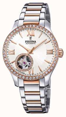 Festina 女装自动|两音不锈钢手链|银色表盘 F20487/1