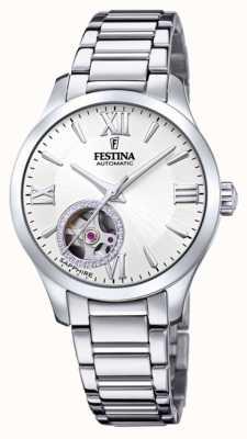 Festina 女装自动|不锈钢手链|银色表盘 F20488/1
