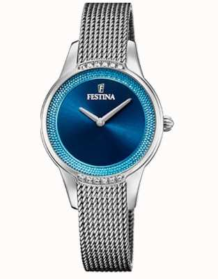 Festina 女士陶瓷|两音钢/陶瓷手链|蓝色表盘 F20494/2