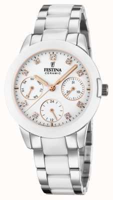 Festina 女士陶瓷|两色钢/陶瓷手链|白色表盘 F20497/1
