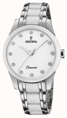 Festina 女士陶瓷|两色钢/陶瓷手链|白色表盘 F20499/1